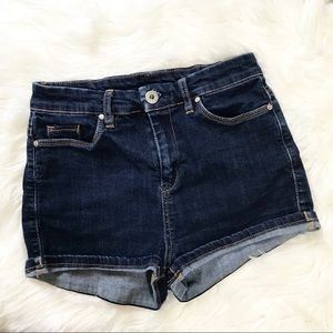 Blank NYC Stretch Dark Wash Denim Jean Shorts